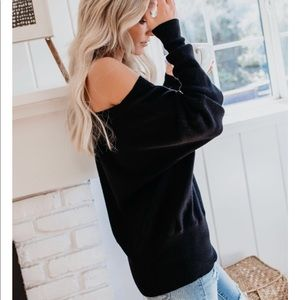 Sweaters - 'More Coffee Less Monday' Black Sweater